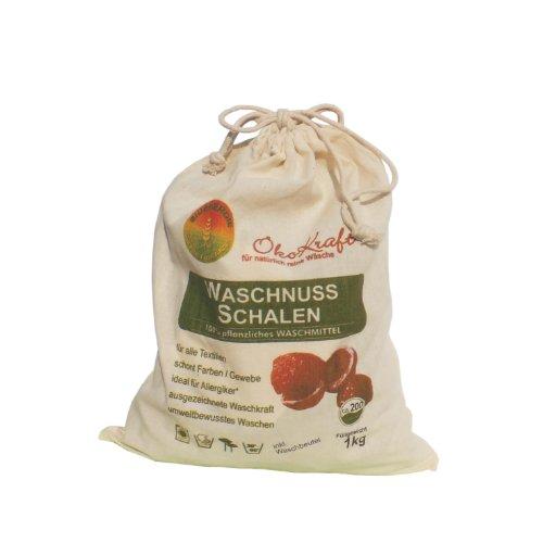 Bioenergie Indische Waschnuss-Schalen inklusive Waschbeutel, 2er Pack (2 x 1 kg)