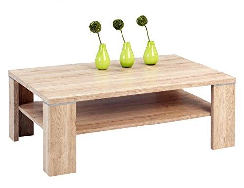 Chicago Beistelltisch (Dreams4Home Couchtisch 'Chicago' Holz Sanremo Eiche 110x70 cm Tisch Beistelltisch Sofatisch Ablägefläche Wohnzimmertisch)