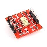 Delicacydex HW-399 4-Wege-Optokoppler-Isolationsplatine für Arduino-Erweiterungsplatine Hoch- und Niedrigpegel-Optokoppler-Isolationsmodul - Rot