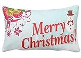 perfecone Hauptverbesserung Kissenbezug Frohe Weihnachten Foto Muster 28 Design f¨¹r Sofa und Auto Kissenbezug 1 Pack