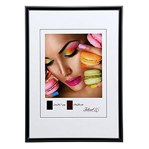 Ideal Life Kunststoff Bilderrahmen 10x15 cm bis 50x70 cm Bilder Foto Rahmen: Farbe: Schwarz | Format: 50x70