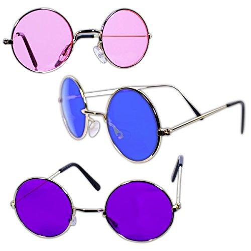 Rhode Island Novelty John Lennon Hippie-Art-Sonnenbrille | Packung mit 12 Stück