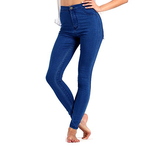 June Julien Damen Jeanshose Gr. S, blau (Clothing Big Tall And Womens)