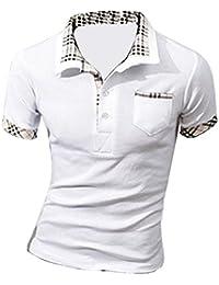 MQ Homme Nouveau Polo Shirts Manche Courte Casual T-shirt Mode Mince Fit Chemise Tee Tops