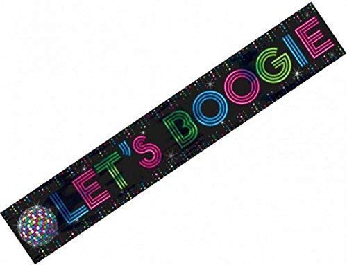 70s Jahre Disco Fever Ball 1970s Seventies Boogie Riese 25ft Kostüm Theme Party-Dekoration Banner