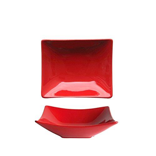 Bruno Evrard Assiette ceuse rouge en céramique 19x16cm - Lot de 6 - MATINE