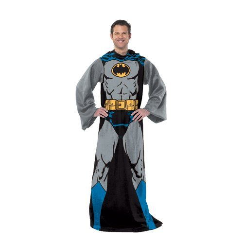 Northwest dc comic adult comfy throw with sleeves by the company, batman in black, standard