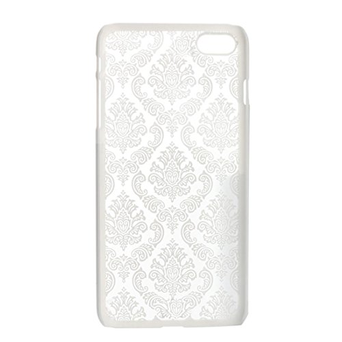 Ouneed® Hülle für iphone 7 4.7 Zoll , Carved Damask Vintage Pattern Matte Hard Case Cover für iPhone 7 4.7 Zoll (4.7 Zoll, Weiß) Pattern Hard Case Cover