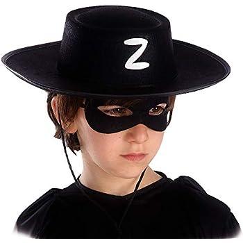 NERO ZORRO kinderhut come accessori costume