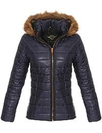 OSAB-Fashion 10189 Damen Steppjacke Winter Jacke Winterjacke Kapuze Webpelz ebb8a1c8e0