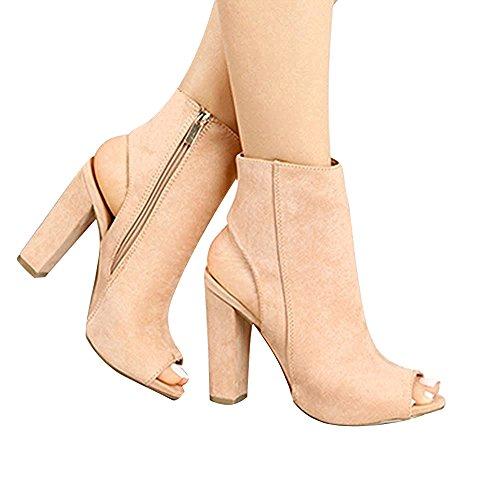 Stiefelparadies Chaussures Compensées Femme - Marron - Sable 40 Flandell oEJDTDh4
