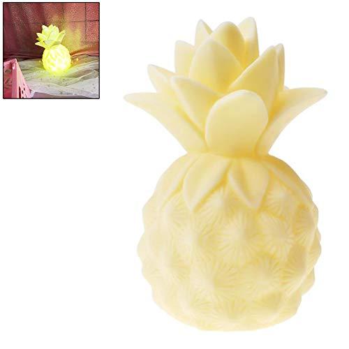Comtervi LED Nachtlicht Kinder, Ananas Nachtlicht, dekorative Party, LED, Schlafzimmer, Cartoon-Ananas-Lampe, Tischlampe, gelb, Free Size