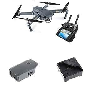 DJI - Pack Mavic Pro + Batterie Supplémentaire + hub Chargeur - Drone Quadricoptère avec Caméra