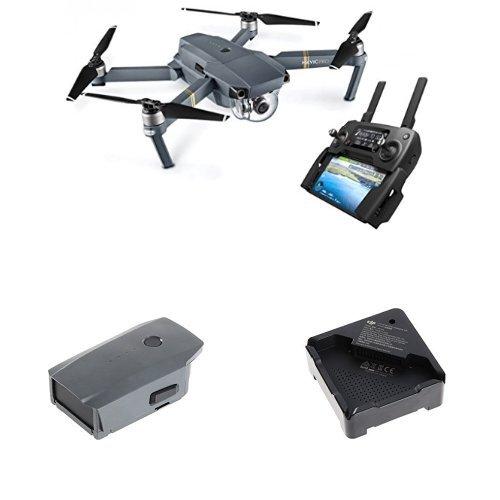 DJI Mavic Pro Drohne grau + Mavic Intelligent Flight Battery grau + Mavic Pro Akkuladestation Hub schwarz