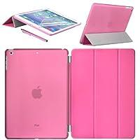 Swees® Smart Cover und Back Cover Case Schutz Hülle Etui Tasche für Apple New iPad Air Maximalen Schutz für Ihr iPad Air 2013 bietet diese Schutzhülle aus Frontcover und Backcover. Sie wurde speziell für das iPad Air designt, ist dünn und robust, hä...
