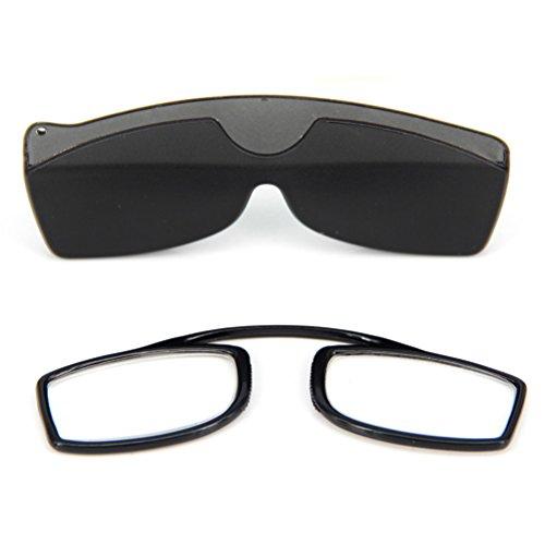 GFYWZ Clip Nase Lesebrille mit Fall, Keine Tempel Arme Leser Presbyopie Brille Für Männer und Frauen,2.50Strength