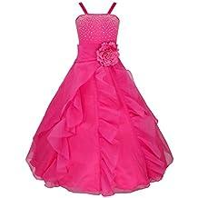 FEESHOW Niña Elegante de Vestido Fiesta de Princesa Verano ceremonia