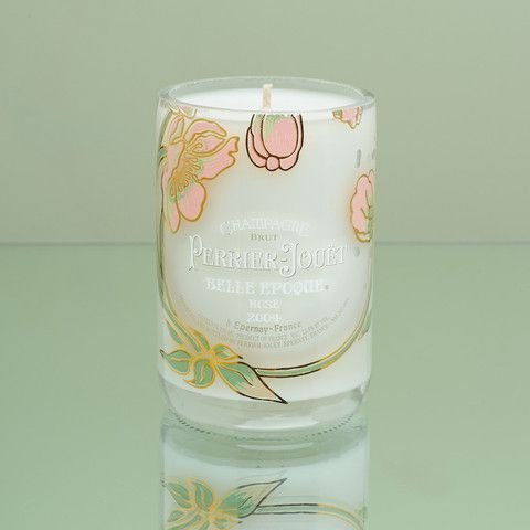 Bougie faite à la main Champagne Perrier jouet–Rosé 750ml Original Cadeau pour bouteille Design d'intérieur