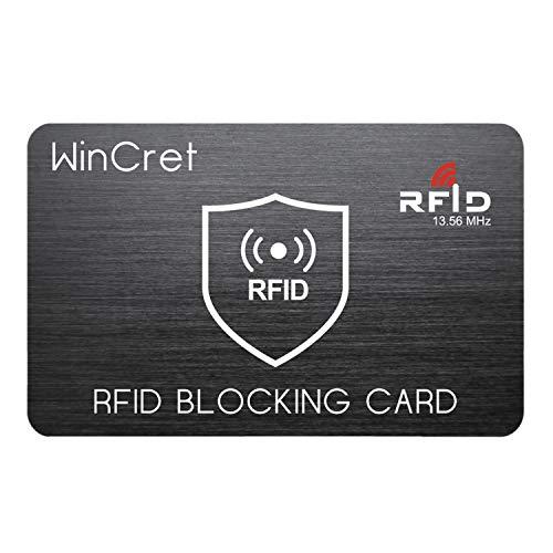 WinCret RFID Blocker NFC Schutzkarte - Störsender - Eine RFID Blocker Karte Blockiert Alle RFID/NFC-Signale von Kreditkarten, Personalausweis, Reisepass, EC-Karte (Handy-störsender)