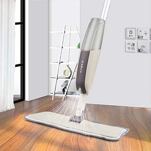 ZUZEN Spritzboden-Mop Mit wiederverwendbaren Mikrofaser-Pads 360 Grad Handlen-Mop für die Heimküche Laminat Holzkeramik-Tägelreinigung