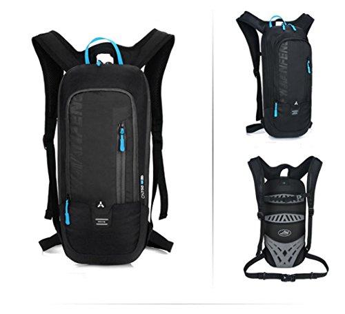 mit dem fahrrad lagerung wassersack rucksack nylon wasserdicht, atmungsaktiv paar freizeitaktivitäten im freien kleinen großen kapazitäten rucksack 5 farben L46x W22 x T7cm Black