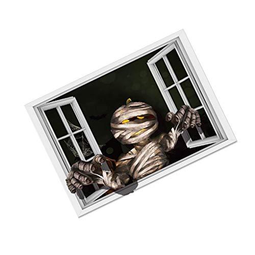 PRENKIN DIY Halloween 3D Wand Aufkleber Mama Wand Abziehbild Dekor Scary Geist Poster Fenster Kunst Wanddekor