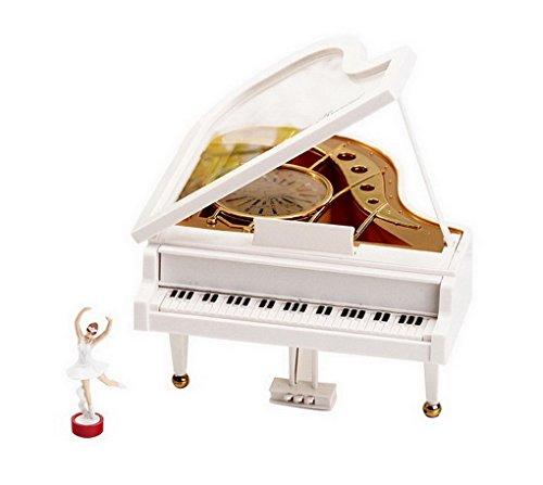 Regalo creativo Laputa Giorno Piano Dancing Girls San Valentino rotante Music Box Vintage meccanica classica (Ragazze Music Box)