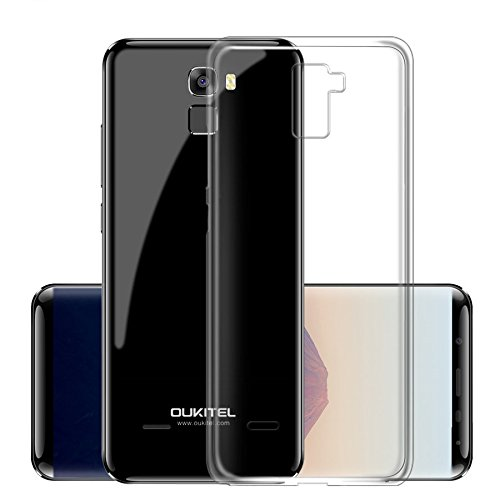 cookaR Oukitel K5000 hülle transparent Handyhülle, Ultra Dünn Soft Silikon Crystal Clear Schutzhülle für Oukitel K5000 case Cover. Oukitel K5000 case Cover(transparent)