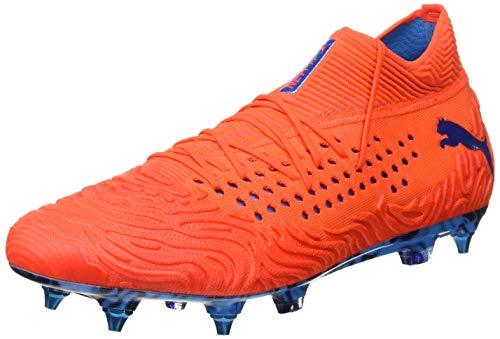 Puma Herren FUTURE 19.1 NETFIT Mx SG Fußballschuhe, Rot (Red Blast-Bleu Azur),43 EU (Puma Fußballschuh Sg)