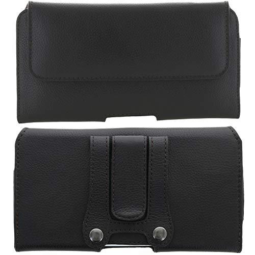 XiRRiX Leder Handy Tasche 5.0 mit Gürtelclip - 3XL passend für Doro 8040 / Samsung Galaxy A5 J3 J5 2017 A20e A40 Xover 4s