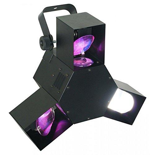 Beamz Triple Flex Centre Pro Black–stroboscopes & Disco Lights (Black, LED, 72Lamp (S), 7Channels, 20°, AC)