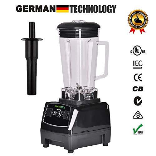 2200W Hochleistungs-Mixer Mixer Entsafter Hochleistungs-Küchenmaschine Ice Smoothie Bar Fruit Blender,Black