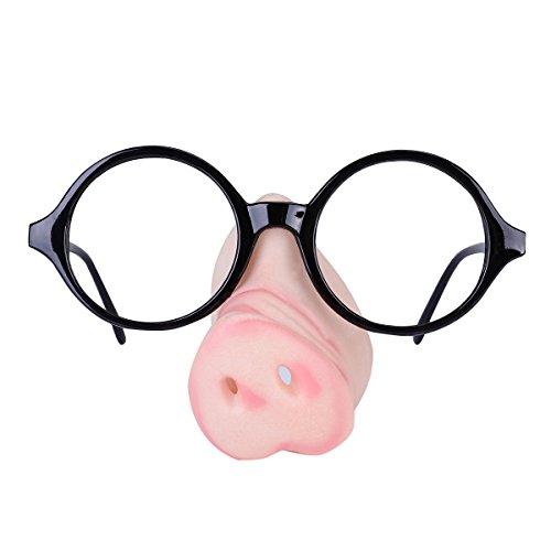Tinksky Halloween Cosplay Kostüm Schwein Nase Sonnenbrille Specs Glas Loop Rahmen Fancy Dress Piggy Snout Eye-catching Party Gläser Funny Glass