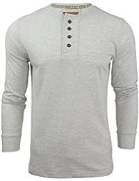 Tokyo Laundry - T-shirt - Uni - Col Tunisien - Manches Longues - Homme