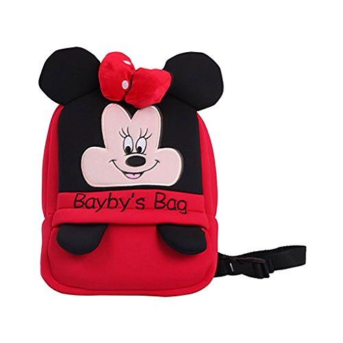 Amazemarket Baby Kinder niedlich Rucksack ausgestopft Karikatur Tiere Schule Taschen Schulter Hinausgehen Tasche Kinder Früh Bildung (Maus)