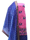 YouthIconz Cotton Kutchi Panihari Embroidery Dress Material For Women | Latest Unstitched Bandhani Salwar Suits for Ladies (4589, Pink, Free Size)