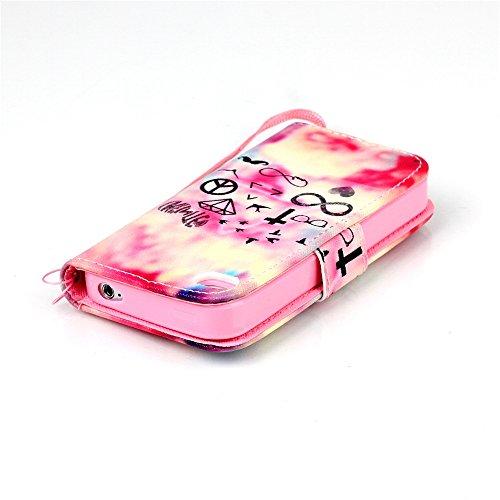Meet de Apple iPhone 4S Bookstyle Étui Housse étui coque Case Cover smart flip cuir Case à rabat pour Apple iPhone 4S Coque de protection Portefeuille - Yeux bleus Don't touch my phone multi-éléments