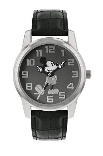 Disney Mickey Mouse - Reloj Unisex con Correa de Piel Color Negro - MK1461