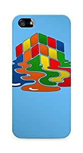 Amez designer printed 3d premium high quality back case cover for Apple iPhone 5 (Rubiks cube puzzle)