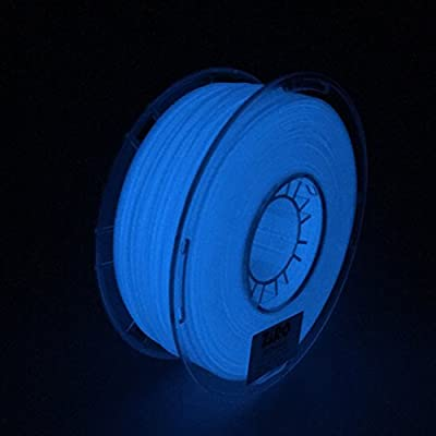 ZIRO 3D Printer Filament PLA 1.75mm Glow In The Dark Color Series 1KG(2.2lbs), Dimensional Accuracy +/- 0.05mm, GID Blue