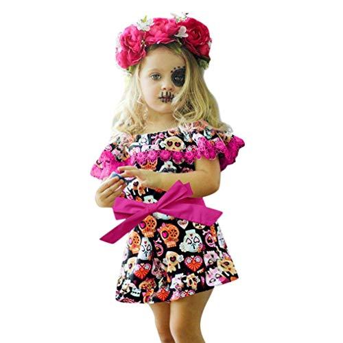 K-youth Vestido de Niña Ropa Bebé Niñas Sin Mangas Halloween...