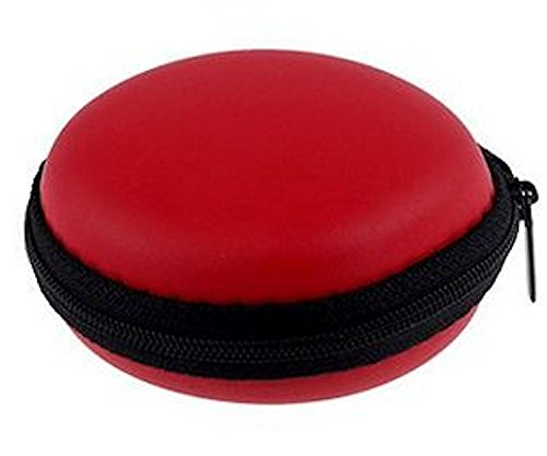 tomaxx Mini-Etui Rot Hülle z.B. für iPod Shuffle oder Etui für Ohrhörer, Headset, Kopfhörer, Bluetooth oder auch für SD-Karte, USB Stick, Battery, Schmuck, Ohrringe