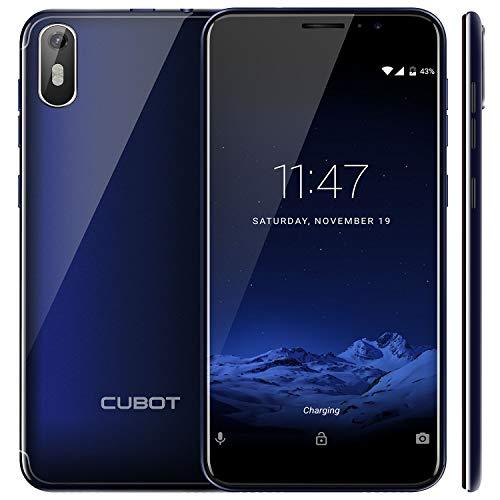 "CUBOT J5 (2019) Android 9.0 Dual SIM Smartphone ohne Vertrag, 5.5"" (18:9) Touch Display, 2GB Ram+16GB interner Speicher, Quad-Core, 8MP Hauptkamera / 5MP Frontkamera und Face-Unlock Funktion (Blau)"