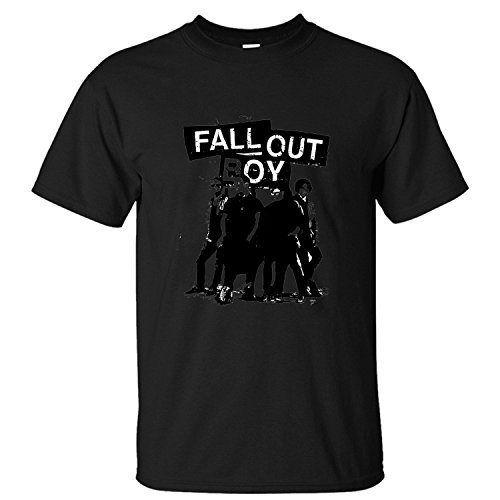 KIEE Uomo's Fall Out Boy American Beauty Short Sleeve T-shirts