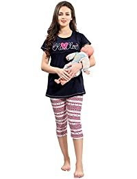 AV2 Women Maternity Wear/Feedind / Nursing Top & Capri Set