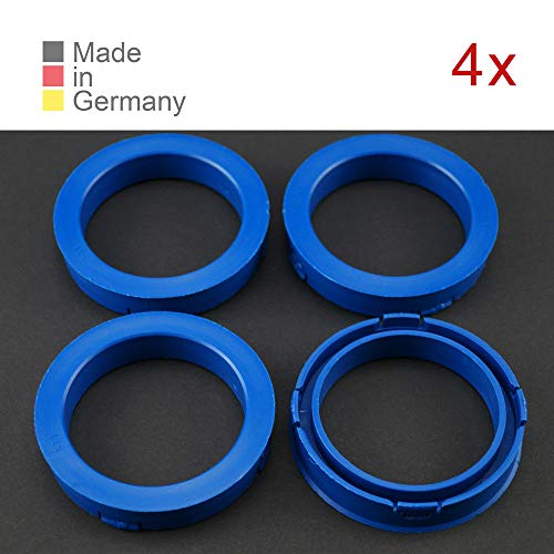 KONIKON 4X Zentrierringe 73,10 x 57,10 mm Blau Felgen Ringe Radnaben Zentrierring Adapterring Ring Felgenring Distanzring Made in Germany