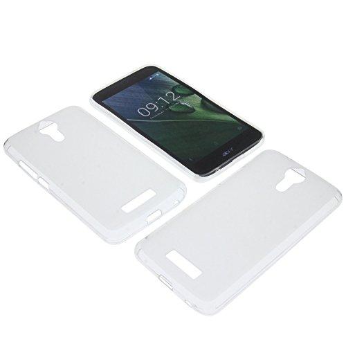 foto-kontor Tasche für Acer Liquid Zest Plus Gummi TPU Schutz Handytasche transparent weiß