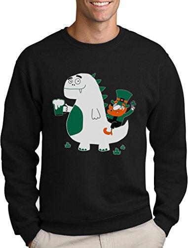 Green Turtle T-Shirts St. Patrick's Day Drache Kobold Bier Sweatshirt Medium Schwarz