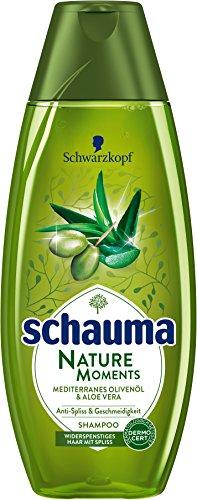 Schwarzkopf Schauma Nature Moments Shampoo, Mediterranes Olivenöl und Aloe Vera, 5er Pack (5 x 400 ml)