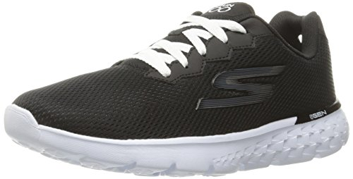 Skechers Go Run 400-Action, Chaussures de Running Femme Noir (Black White)